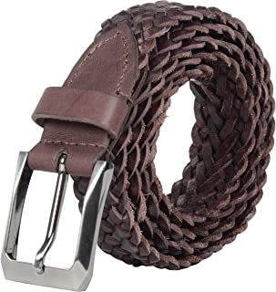Leather Architect Men's Real Leather Braided Belt
