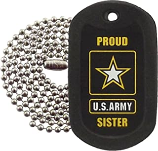 Military Dog Tags - Proud Army Sister Dog Tag Necklace