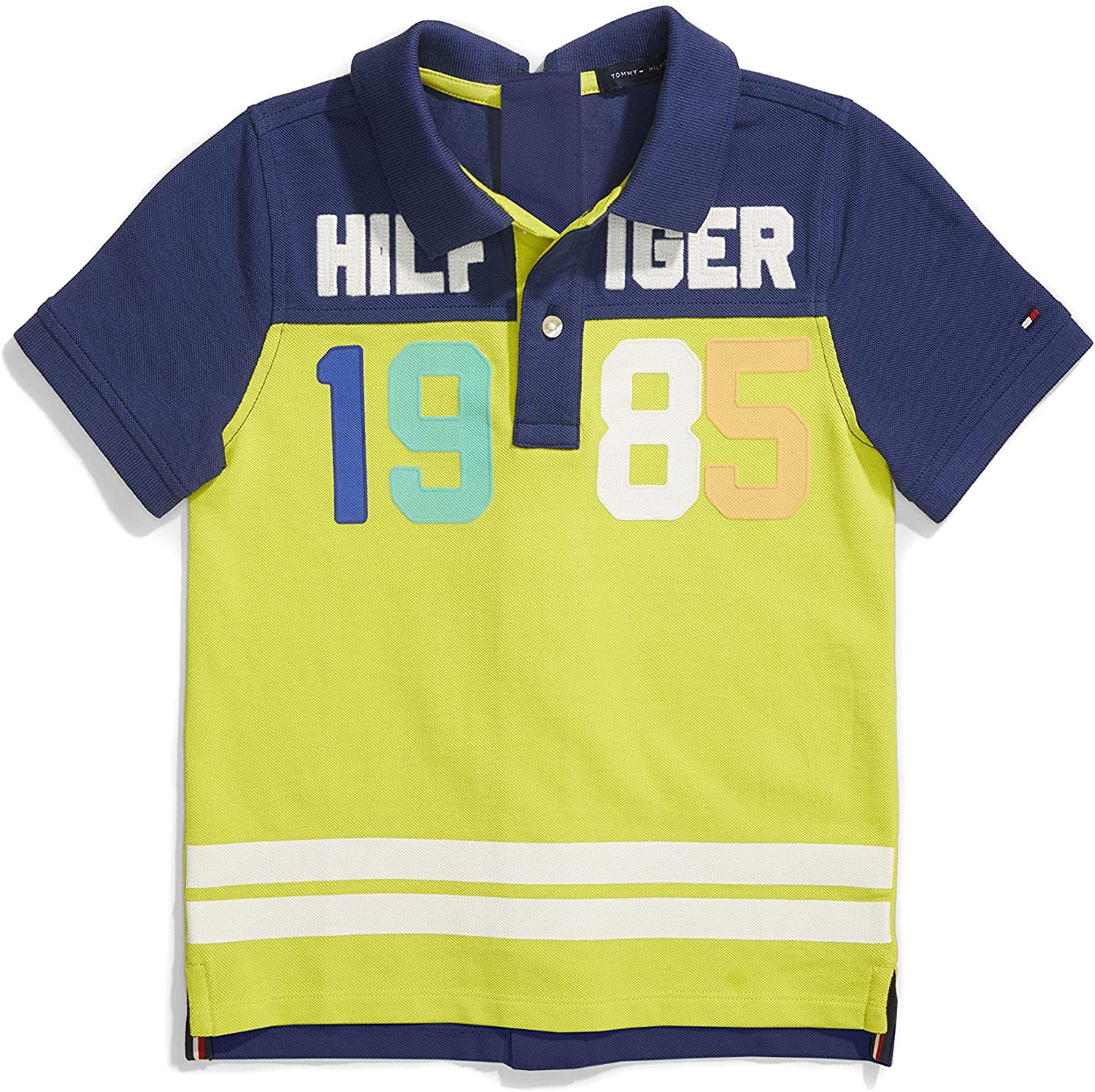 Tommy Hilfiger Boys' Adaptive Polo Shirt with Velcro Closure at Front Placket and Center Back