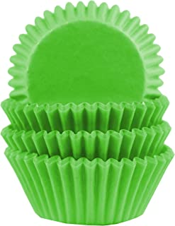 Baking Cups, Cupcake Liners, Birthday Party, Standard Size, Pack of 100 (Green)