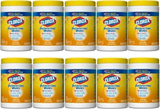 Clorox Disinfecting Wipes, Citrus Blend, 105 Wet Wipes - 10 Packs