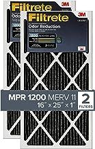 Filtrete MPR 1200 16x25x1 AC Furnace Air Filter, Allergen Defense Odor Reduction, 2-Pack