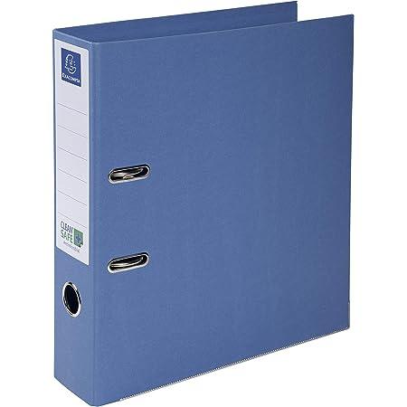 Exacompta - Réf. 53222E - 1 Classeur à levier A4 Prem'Touch Clean'Safe - Dos de 70 mm - Mécanique 75 mm - Dimensions extérieures : 32 x 29 x 7 cm - Format à classer A4 - Coloris : Bleu