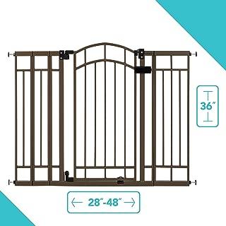 Summer Infant Multi-Use Deco Extra Tall Walk-Thru Gate, Bronze (28.5 – 48 Inch)