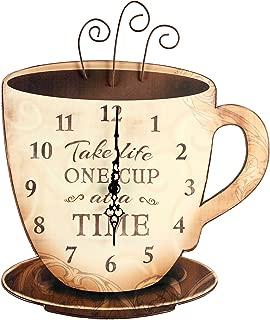 Young's Wood Take Life Coffee Wall Clock, 13.75