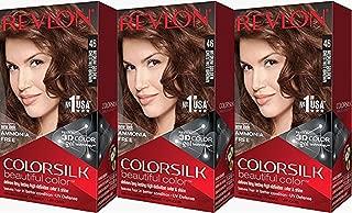 Revlon Colorsilk Beautiful Color, Medium Golden Chestnut Brown, 3 Count