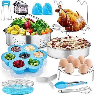 TeamFar Pressure Cooker Accessories, 17 Pieces 8 / 6qt Pot Accessories Set for Instant Air Fryer Crock Pot, Healthy & Toxi...