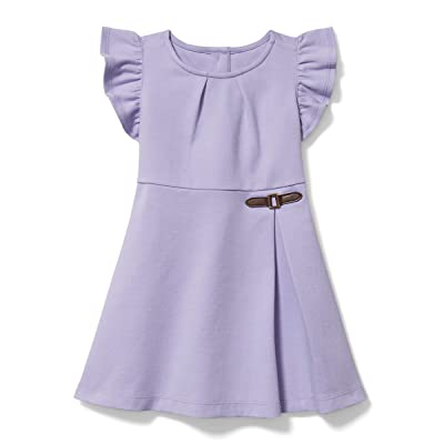 Janie and Jack Ponte Dress (Toddler/Little Kids/Big Kids) (Lavender) Girl