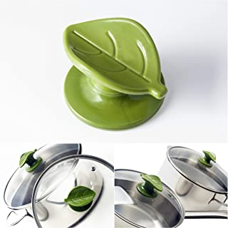 Wiizez Green Universal Crockpot Cookware Lid Knob Handle Replacement - With Practical Spoon Rest (2 Pack)