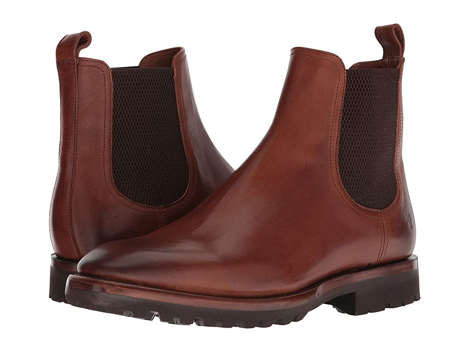 Frye Weston Lug Chelsea (Copper Pressed Full Grain) Men