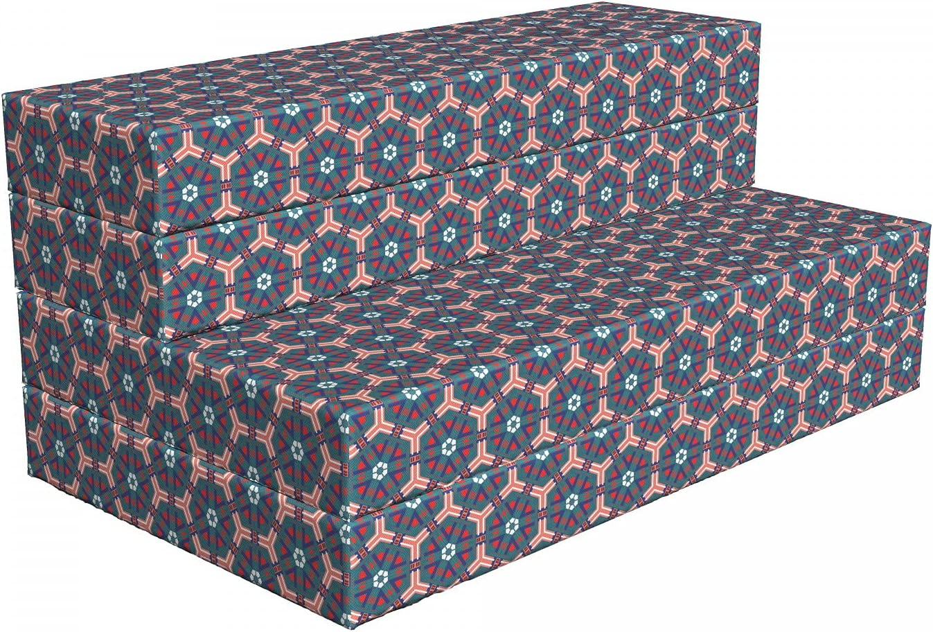 Ambesonne Max 40% Selling and selling OFF Traditional Foldable Mattress Hexagonal Tiles 78.7