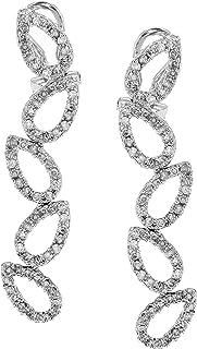 Carissima Gold Pendientes de mujer con oro blanco de 18k (750), diamantes blancos
