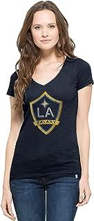 MLS Los Angeles Galaxy Women's V-Neck Scrum Tee, X-Large, Fall Navy