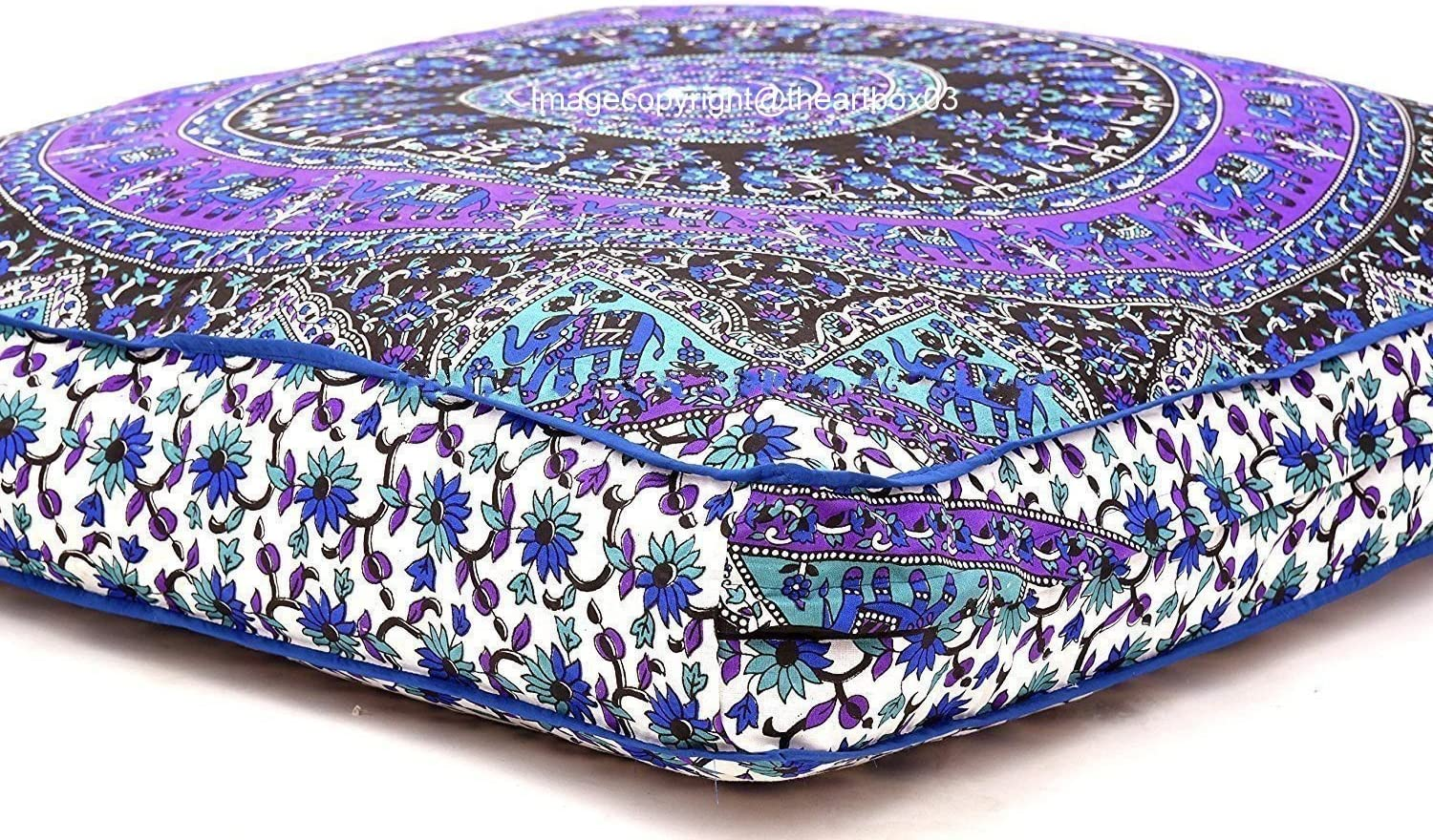 The Art Box Limited price Max 48% OFF Indian Floor Cushion Tapestry Large Cover Mandala Sq