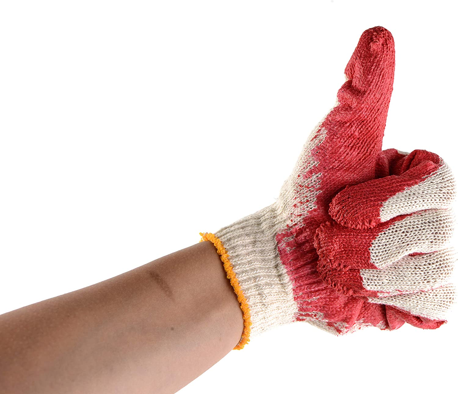 300 Pairs - Red Latex Coated Gloves Inventory cleanup selling sale Work SMALL by Excellent Cotton EcoQu