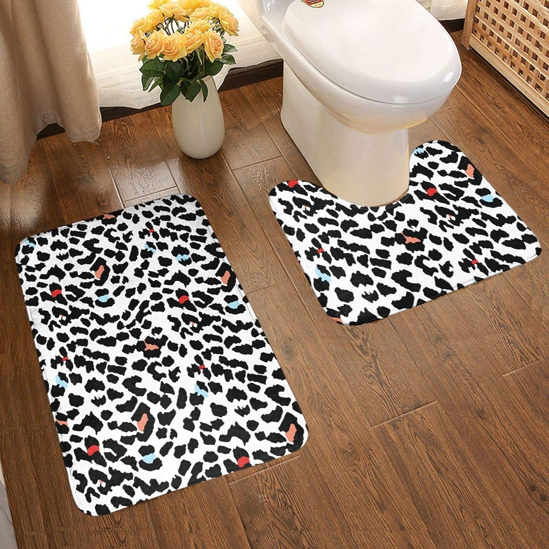 Leopard Bathroom Carpet Soft Non-Slip 2 Department store Mat Detroit Mall Piece S