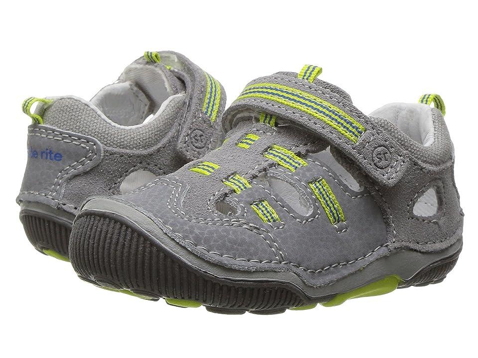 Stride Rite SRT Reggie (Toddler) (Grey/Lime) Boys Shoes