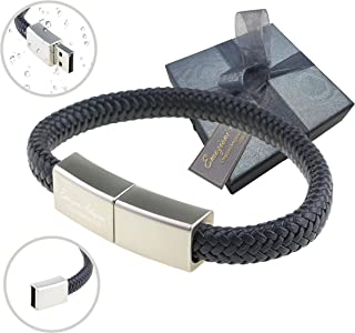 Bracciale Uomo Donna USB 32GB Regolabile - Idea Regalo Originale per Compleanno, Fidanzato, Papà, Amico. Inclusa Elegante ...