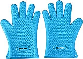 HornTide chaleur Gants silicone résistant Four mitaines résister à 230 ° C Grip 446 ° F à cinq doigts pour la cuisson de c...