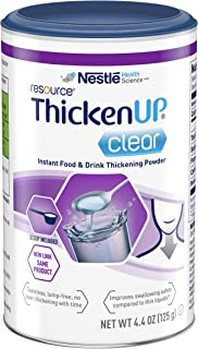 Resource Thicken Up Clear, Instant Food & Drink Thickening Powder, 4.4 Oz Canister (Packaging May Vary)