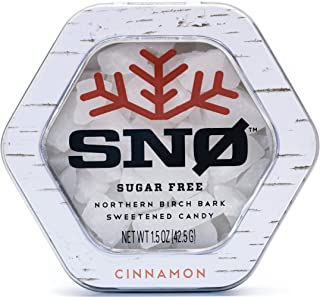 (NEW LOOK) Cinnamon Xylitol Candy Chips - SNØ 1.5oz Tin - Handcrafted w/ ONLY 2 Ingredients   Diabetic-friendly, Non-GMO, ...