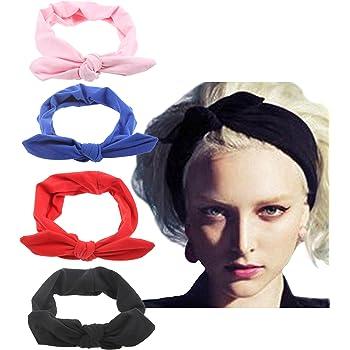 Amazon.com: 10 Pack Women's Headbands Boho Flower Printing Twisted Criss  Cross Elastic Hair Band Accessories B: Beauty