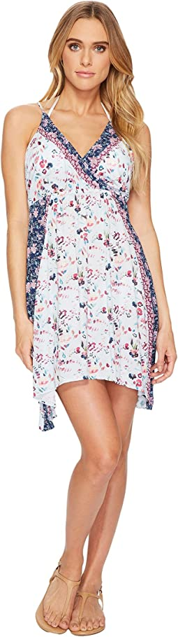 Lucky Brand - Gypsy Floral Faux Wrap Swing Dress Cover-Up