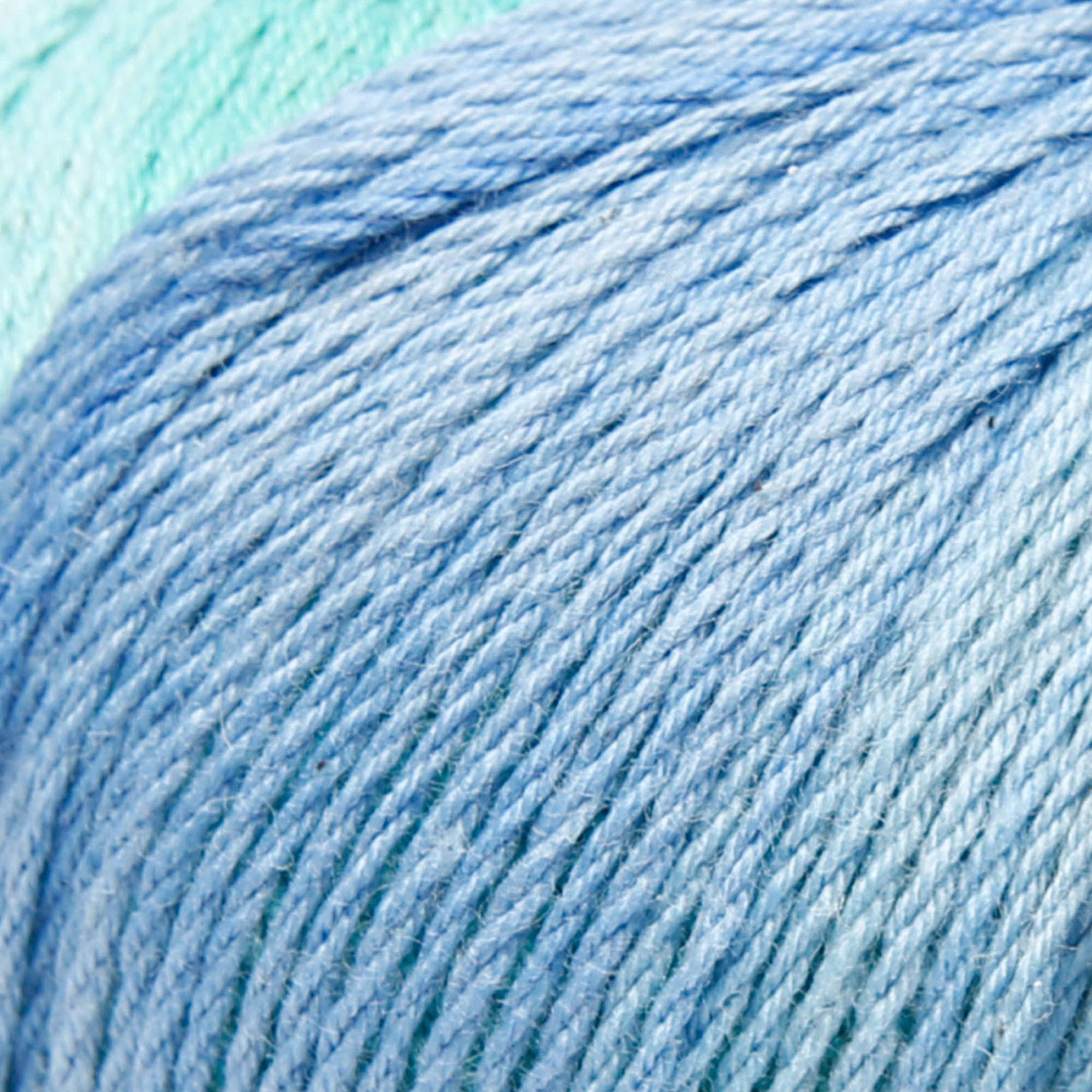 ggh Calypso - 012 - Azul turquesa - Algodón con gradiente de color para tejer y hacer ganchillo: Amazon.es: Hogar