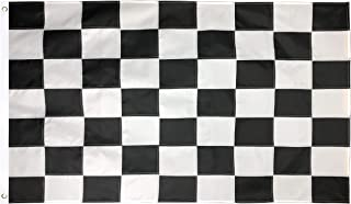 Green Grove Products Checkered Flag 3' x 5' Ft 210D Nylon Premium Outdoor Race Flag