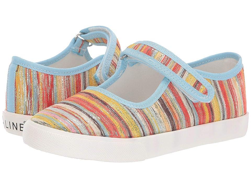 Amiana 6-A0838 (Toddler/Little Kid/Big Kid) (Orange Stripe) Girls Shoes