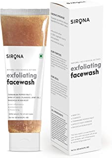 Sirona Exfoliating Natural Face Wash for Men & Women - 125 ml | Anti Acne | Suitable For All Skin Type| Reduces Blemishes|...