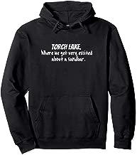 Torch Lake Traverse City Michigan Love Sandbar Pullover Hoodie