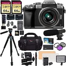 Panasonic DMC-G7KS Digital Single Lens Mirrorless Camera 14-42 mm Lens Kit, 4K + 2 Transcend 64 GB + LED Light Flash + Ritz Gear 60