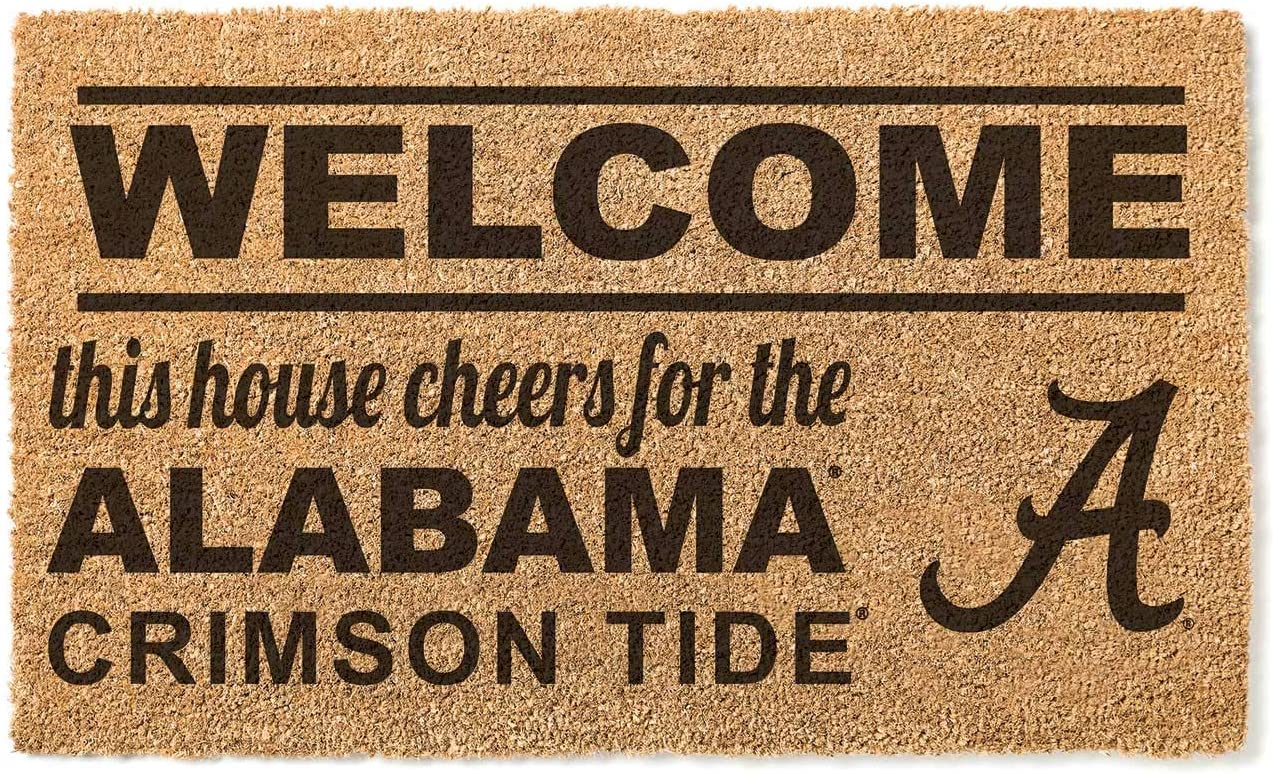 KH Sports Fan Alabama Crimson Tide Team Free shipping on posting reviews Mu Welcome Doormat Cheap mail order shopping Coir