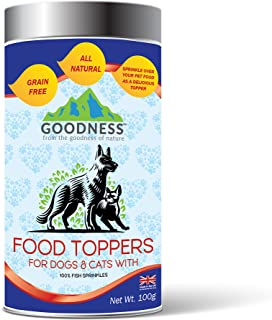 Goodness Food Toppers For Dogs & Cats With 100% Fish Sprinkles - 100Gm