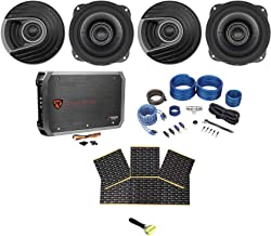 4 Polk Audio MM522 5.25 1200 Watt Car Audio Speakers+Amplifier+Amp Kit+Rockmat