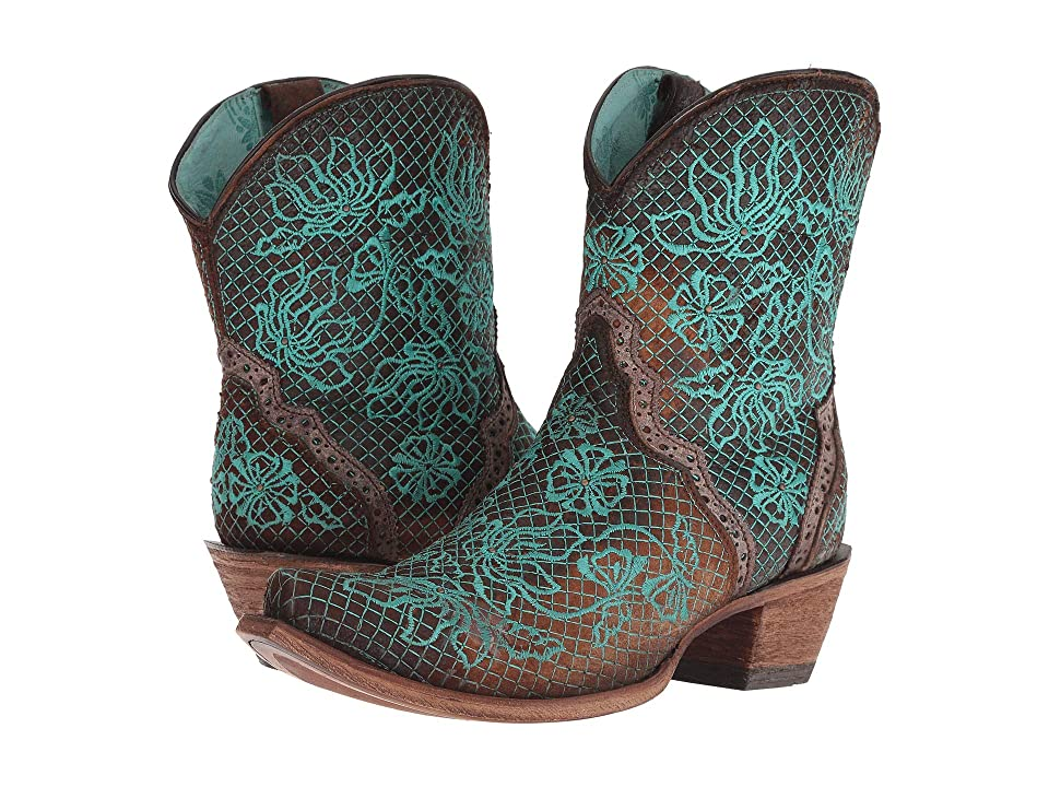 Corral Boots C3427 (Chocolate/Turquoise) Cowboy Boots