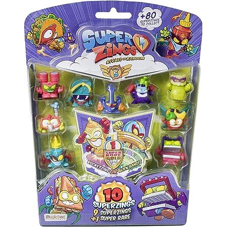 SuperZings - Serie 5 - Blíster con 10 figuras (PSZ5B016IN00), 9 Figuras SuperZings y 1 Figura Dorada Super Rare