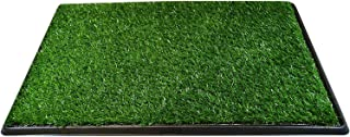 Downtown Pet Supply Dog Pee Potty Pad, Bathroom Tinkle Artificial Grass Turf, Portable Potty Trainer (16 x 20 Inch - 3 Lay...
