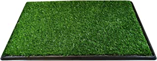 Downtown Pet Supply Dog Pee Potty Pad, Bathroom Tinkle Artificial Grass Turf, Portable Potty Trainer Full System, Trays, and Replacement Grass (16