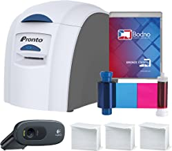 Magicard Pronto ID Card Printer & Supper Supplies Package with Bodno ID Software, Camera, 300 Cards and 300 Print Ribbon