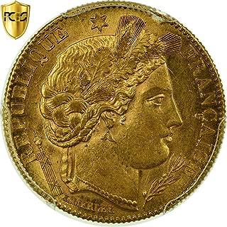 1899 A Cérès 10 Francs PCGS MS62