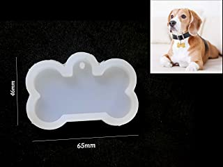 Khushi Handicrafts DIY Silicone Dog Bone tag Mould for Resin,Cement,Clay and Candle Crafts