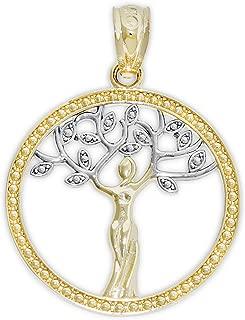 Gold Sacred Tree of Life Charm - 14 Karat Solid Gold