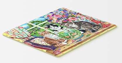 """Caroline's Treasures CDCO0325CMT """"Cats Just Looking in The Fish Bowl"""" Kitchen or Bath Mat, 20"""" H x 30"""" W, Multicolor"""
