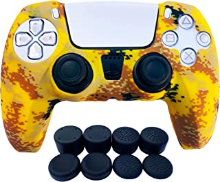 PS5 Controller Skins | Sony Playstation 5 Accessories - Silicone Protector Cover Skin for Dualshock with 8 x Pro Thumb Gri...