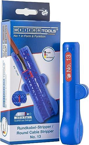 WEICON Stripper per Cavi Tondi No. 13 Spelacavi per cavi tondi e a prova di umidità (6-13 mm)