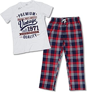 1971 Vintage Year - Aged To Perfection - 50th Birthday Gift / Present Mens Pyjama Set