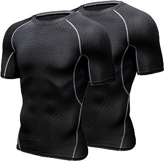 HONENNA 加圧インナー 加圧シャツ 着圧スポーツインナー メンズ 半袖 インナー 男性用機能性肌着 コンプレッションウェア 吸汗速乾 姿勢矯正 猫背解消