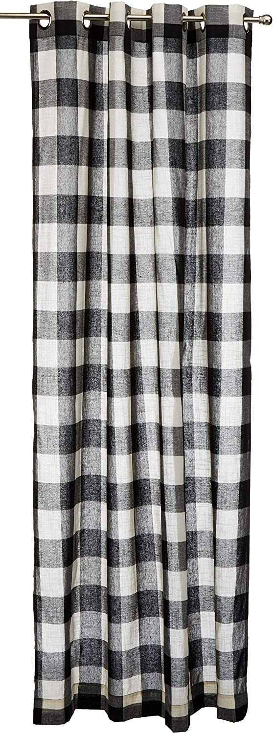 Lorraine Discount mail Max 71% OFF order Home Fashions 09570-84-00146 BLACK Grommet Wi Courtyard